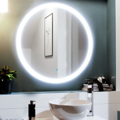Round LED 700 x 700mm Bathroom Mirror