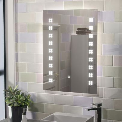 Eden Illuminated LED Mirror with Shaver Socket and Demist