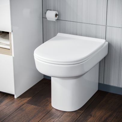 Aalan Back To Wall Pan and PP Soft Close Toilet Seat