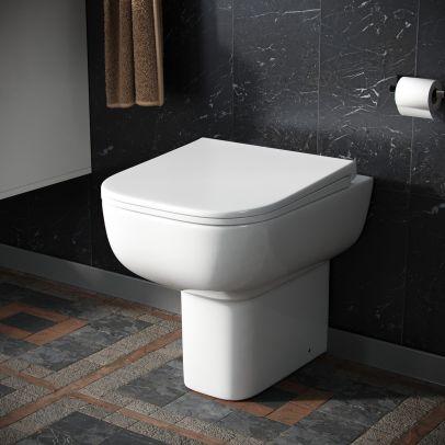 Debra Modern Back To Wall Toilet Pan & Soft Close Seat