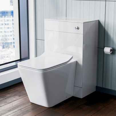 Elora Back to Wall Toilet Pan with Concealed Cistern WC Unit Set