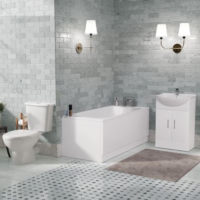 Senore 1700 Bath Vanity WC and Toilet Bathroom Suite