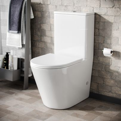 Bella Round Close Coupled Cistern, Pan and Seat