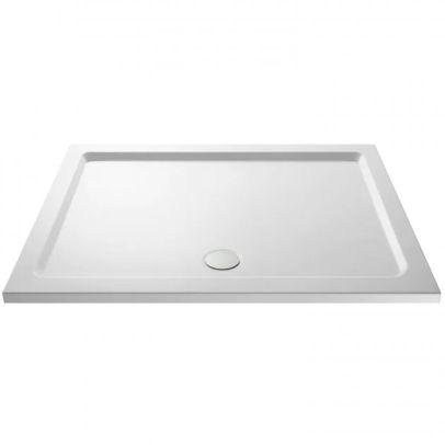Slim 1500 x 760 Rectangular Stone Resin Shower Tray For Wetroom Enclosure