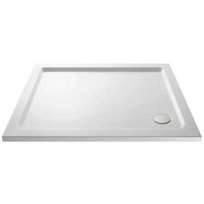 Slim 1100 x 760 Rectangular Stone Resin Shower Tray For Wetroom Enclosure