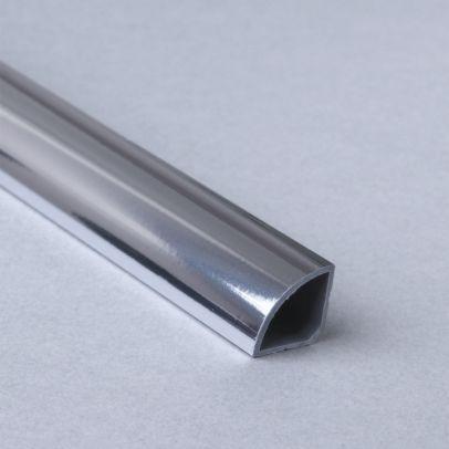Retroft PVC Quarter Round Silver 2400mm panelling Trim