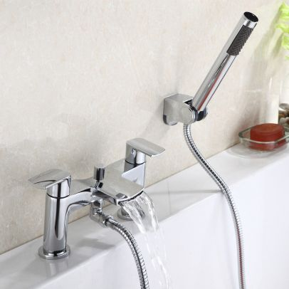 Centa Waterfall Bath Shower Mixer Tap with Shower Kit