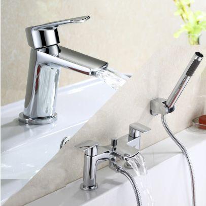 Wilpa Basin Mixer & Bath Shower Mixer Tap Chrome