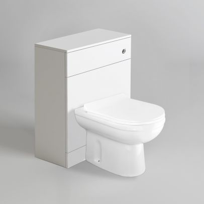 Telrone Back To Wall Rimless WC Toilet Unit + Soft Close Seat