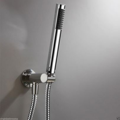 Shower Kit Set Inc Handset+ 1.5m Hose+ Fixed Adjustable Outlet Bracket