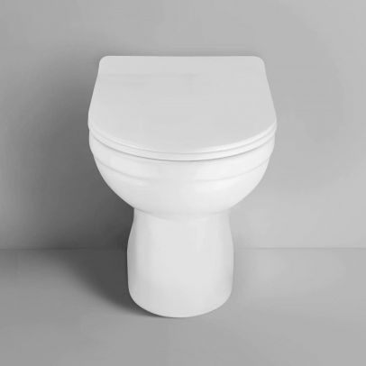 Debra Back To Wall Ceramic WC Toilet Pan with Soft Close Seat