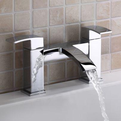 Vibra Modern Bathroom Bath Filler Tap Chrome
