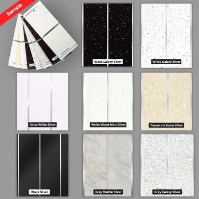 6 mm Thick PVC Cladding Wet Wall Ceiling Panel Sample Pack
