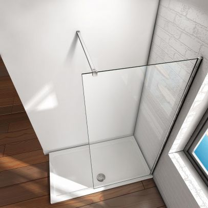 1225 mm Straight Square Shower Wall to Glass Support Bar