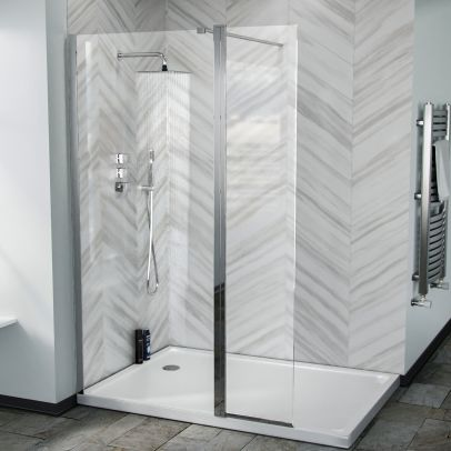 Samoa Glass Screen Flipper Return Panel for Walk-in Shower Enclosure