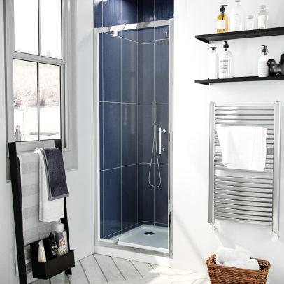 Jupiter 800mm Modern Pivot Shower Door Enclosure Screen Safety Glass