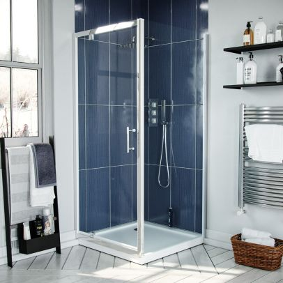 900 Pivot Shower Door Enclosure With Glass Panel Screen Cubicle