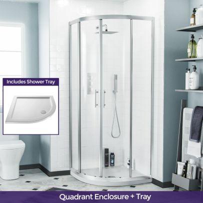 Saturn Quadrant 800mm Shower Enclosure & Tray