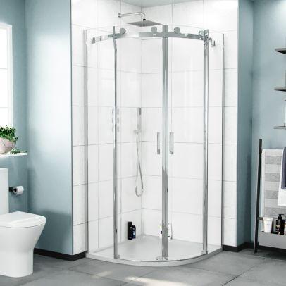 Hardwick 800mm Frameless Quadrant Corner Shower Enclosure