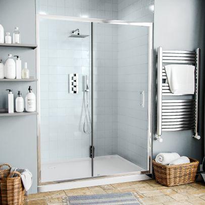 Saturn 1400 mm Glass Sliding Door Panel for Shower Enclosures