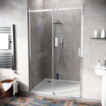 Hardwick 1100mm Frameless Sliding Shower Enclosure Door