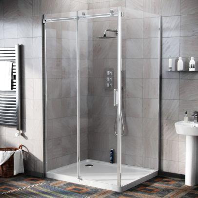 Hardwick 1100 x 800mm Frameless Sliding Shower Door Enclosure