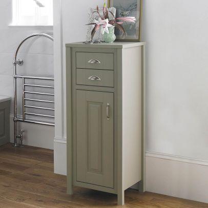 CHILTERN Stone Grey Traditional 465mm Freestanding Tall Boy Storage Unit