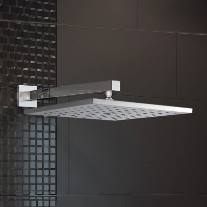 Ultra Thin Square 200mm Shower Head