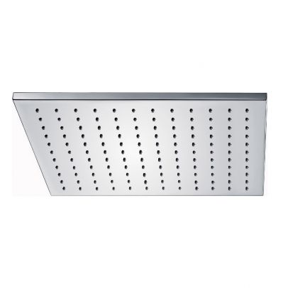 Bathroom Fixed Chrome Rainfall Shower Square Head With Rubber Nozzles 250mm