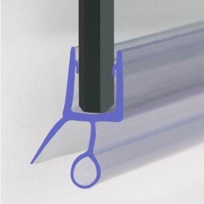 Seal1 - 870 mm Glass Shower Door Rubber Seal Strip Gap 10 mm