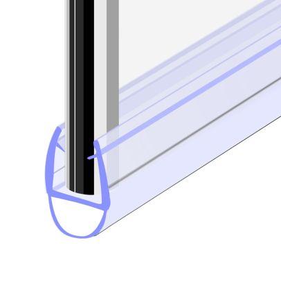 Seal 7 - 900 mm Glass Shower Door Rubber Seal Strip Gap 5 mm