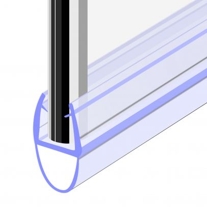 Seal 8 - 900 mm Glass Shower Door Rubber Seal Strip Gap 8 mm