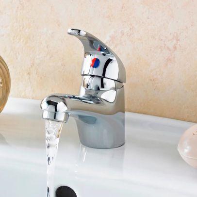 Bathroom Single Lever Basin Sink Mono Mixer Tap Chrome