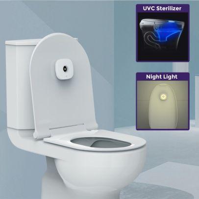 UVC Smart Auto Light Toilet Disinfection USB Mini Lamp Sterilizer Tool