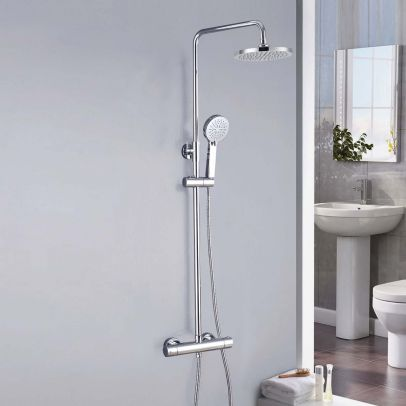 Cool Touch Thermostatic Riser Rail Shower Mixer Chrome