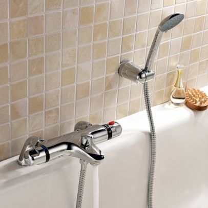 Modern Thermostatic Bath Shower Mixer Tap Set And Kit