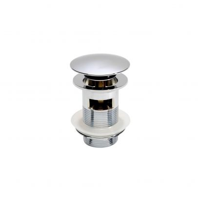 Round Plated Heavy Push Button Slotted Sprung Basin Waste Chrome