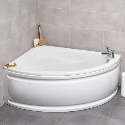Kartell 1500 x 1040 mm White Offset Corner LH Bath